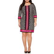 Alyx 3/4 Sleeve Sheath Dress-Plus
