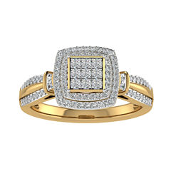 Cherished Hearts Womens 1/2 CT. T.W. White Diamond 10K Gold Bridal Set