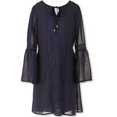 Speechless Chiffon Bellsleeve Blouson Dress