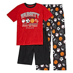 Arizona 3-pc. Kids All-Sport Pajama Set Boys