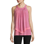 Worthington Sleeveless Crew Neck Knit Blouse