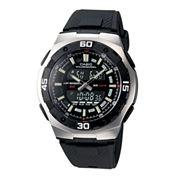 Casio® Active Dial Mens Black Resin Strap Analog/Digital Watch AQ164W-1AV