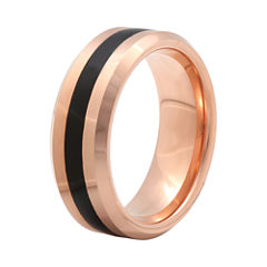 Mens 8mm Comfort Fit Ion-Plated Tungsten Wedding Band