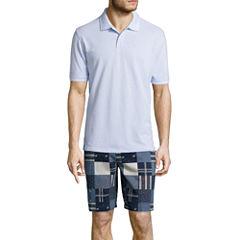 St. John's Bay® Short-Sleeve Legacy Oxford Piqué Polo or Flat-Front Shorts