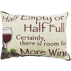 Park B. Smith® Half Empty or Half Full Decorative Pillow