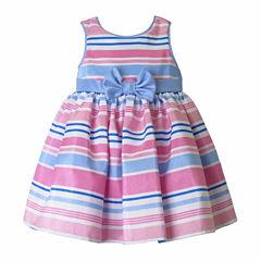 Pinky Sleeveless Empire Waist Dress - Baby Girls
