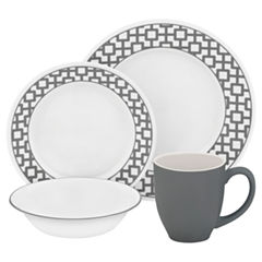 Urban Grid 16-pc. Dinnerware Set