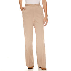 Alfred Dunner Just Peachy Woven Flat Front Pants