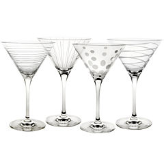 Mikasa® Cheers Set of 4 Martini Glasses
