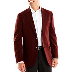 Stafford® Executive Burgundy Hopsack Blazer - Classic