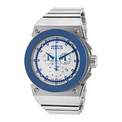 Invicta® Mens Round Silver Bracelet Watch 11593