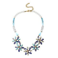 Bleu™ Blue Stone Flower Statement Necklace