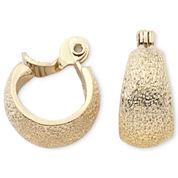 Monet® Gold-Tone Textured Hoop Clip-On Earrings