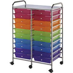 20-Drawer Double Storage Cart