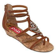 Pop Filly Womens Wedge Sandals