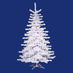 14' Pre-Lit Crystal White Artificial Christmas Tree with Clear Lights