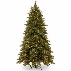 National Tree Co 7.5 Feet Frostberry Memory-Shape Pre-Lit Christmas Tree