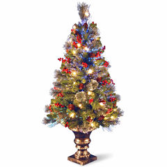 National Tree Co. 4 Foot Crestwood Spruce Pre-Lit Christmas Tree