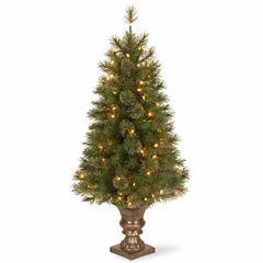 National Tree Co. 4 Foot Atlanta Spruce Entrance Pre-Lit Christmas Tree