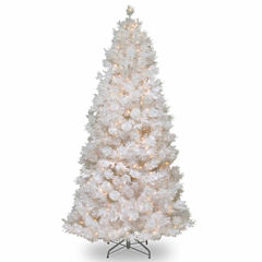National Tree Co. 7 1/2 Foot Wispy Willow Grande White Slim Pre-Lit Christmas Tree