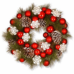National Tree Co. Ornaments And Evergreen Indoor/Outdoor Christmas Wreath