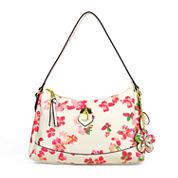 Liz Claiborne Cassandra Top Zip Shoulder Bag