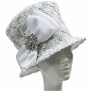 Whittall & Shon Derby Hat Soutache Embroidered Bucket W Brooch