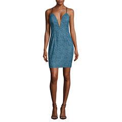 Trixxi Sleeveless Lace Bodycon Dress-Juniors