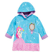 Pink Platinum Girls Princess Raincoat