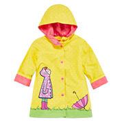 Pink Platinum Girls Dot Raincoat-Toddler