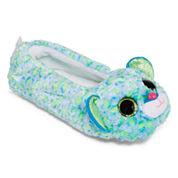Girls Ballerina Leona-Blue Leopard Slippers