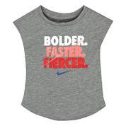 Nike Girls Short Sleeve T-Shirt-Toddler
