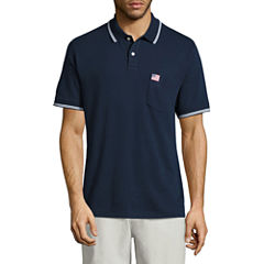 St. John's Bay Americana Short Sleeve Solid Knit Polo Shirt