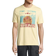 St. John's Bay Havana Short Sleeve Crew Neck T-Shirt
