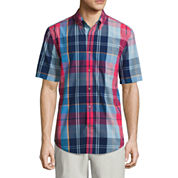 St. John's Bay Poplin Button-Front Shirt