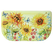 Bacova Guild Watercolor Sunflower Printed Wedge Anti-Fatigue Accent Rug