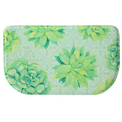 Bacova Guild Succulent Tossed Wedge Kitchen Mat