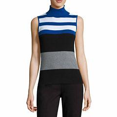 Liz Claiborne Sleeveless Turtleneck Pullover Sweater