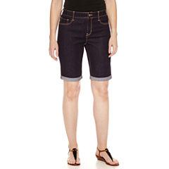 St. John's Bay Denim Bermuda Shorts