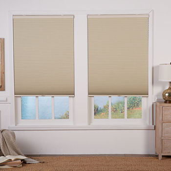 Cut to width 1 Two Tone Cordless Blackout Cellular Shade
