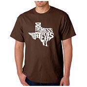 Los Angeles Pop Art Texas Short Sleeve Crew Neck T-Shirt-Big And Tall