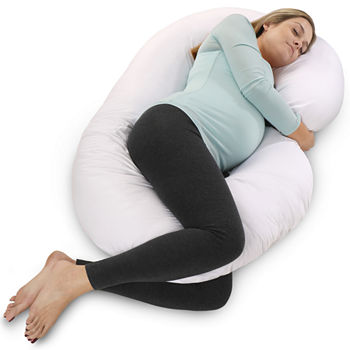 Pharmedoc C shape Maternity Pillow With White Cotton Cover