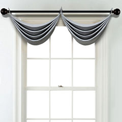 JCPenney Home Textured Blackout Grommet Poly-Cotton Lined Waterfall Valance