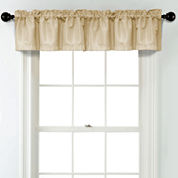 JCPenney Home Textured Blackout Rod Pocket Poly-Cotton Lined Tailored Valance