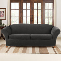 SURE FIT® Stretch Piqué 2 Seat Individual Cushion Sofa Covers
