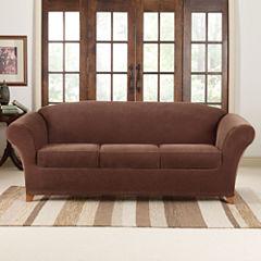 SURE FIT® Stretch Piqué 3 Seat Individual Cushion Sofa Covers