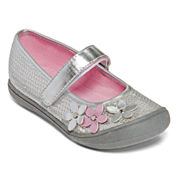 Okie Dokie® Blaire Girls Sequin and Flower Mary Janes - Toddler