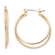 Monet® Gold-Tone 2-Row Hoop Earrings