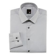 JF J. Ferrar® Easy-Care Solid Dress Shirt–Big & Tall