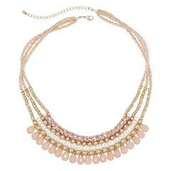 Decree® 4-Row Multi Metal Necklace
